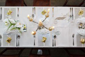 Tischdekoration edler Minimalismus