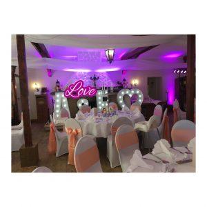 Hochzeitslocation dekoriert